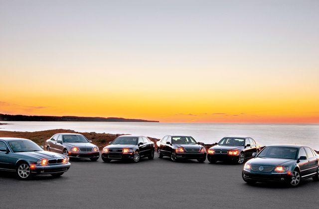 2004 audi a8l, 2004 bmw 745i, 2004 jaguar xj8, 2004 lexus ls430, 2004 mercedes benz s430, 2004 volkswagen phaeton
