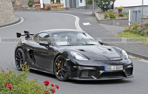 Porsche Cayman GT4 RS Spied Looking Menacing and Ready for Track Duty