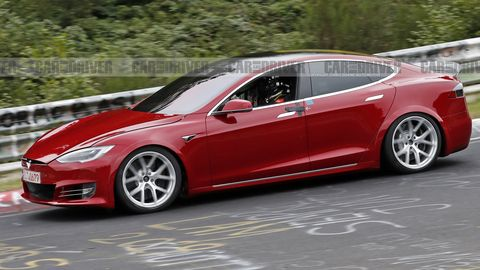 Tesla Model S Spotted Lapping the Legendary Nurburgring