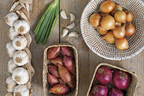 Ajos y cebollas: variedades