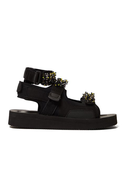 CECILIE BAHNSENAurelia beaded Velcro-strap sandals£355