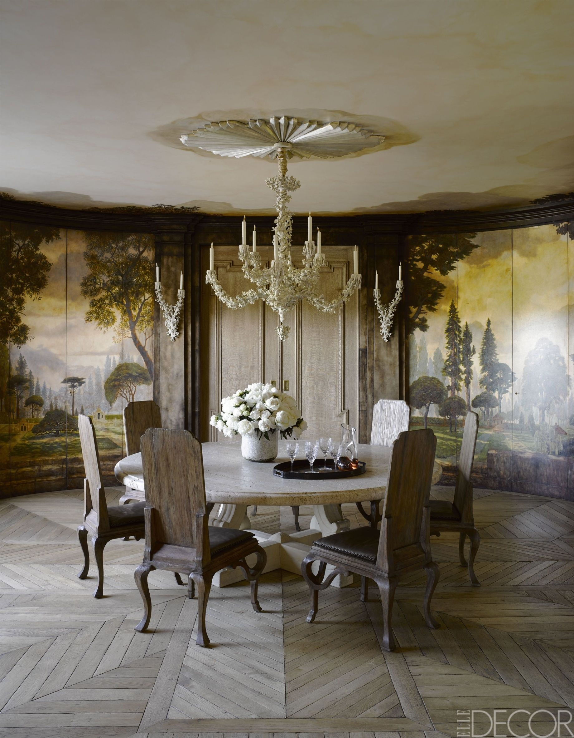 Dining Room Ceiling Ideas Part - 46: Elle Decor