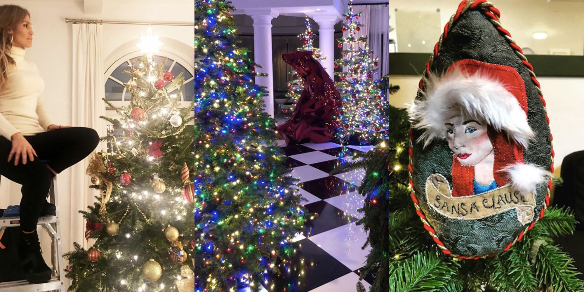 image & Celebrity Holiday Decorations - How Stars Decorate Homes and ...