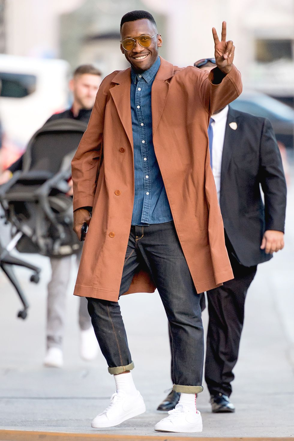"Mahershala Ali This one is more ""actor"" than ""accountant,"" sure. But if your coworkers are rolling into the office wearing hoodies, it'll definitely fly."