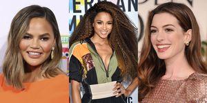 brunettes, kapsels bruin haar, celebritykapsels