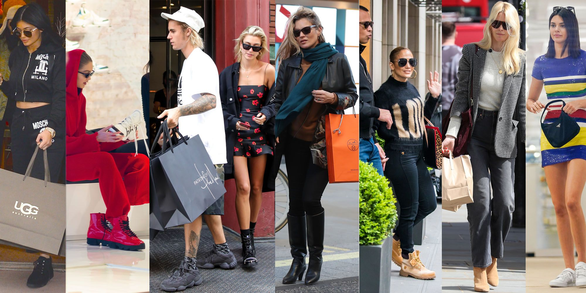 Celebrities shopping