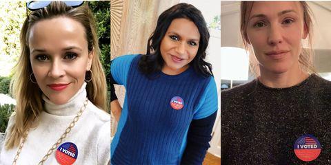 Celebrities voting