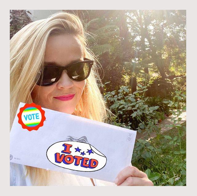 celebrity voting photos