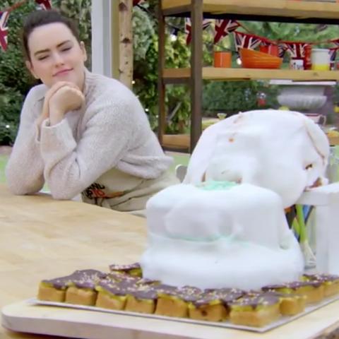 celebrity bake off  daisy ridley toilet cake