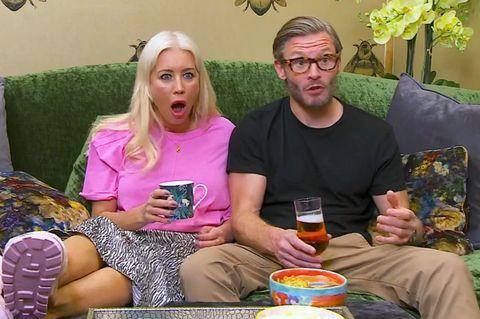 denise van outen and eddie boxshall on celebrity gogglebox