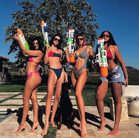 celebrity holiday bikini pictures - kendall jenner