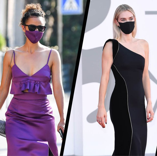 celebrities matching masks