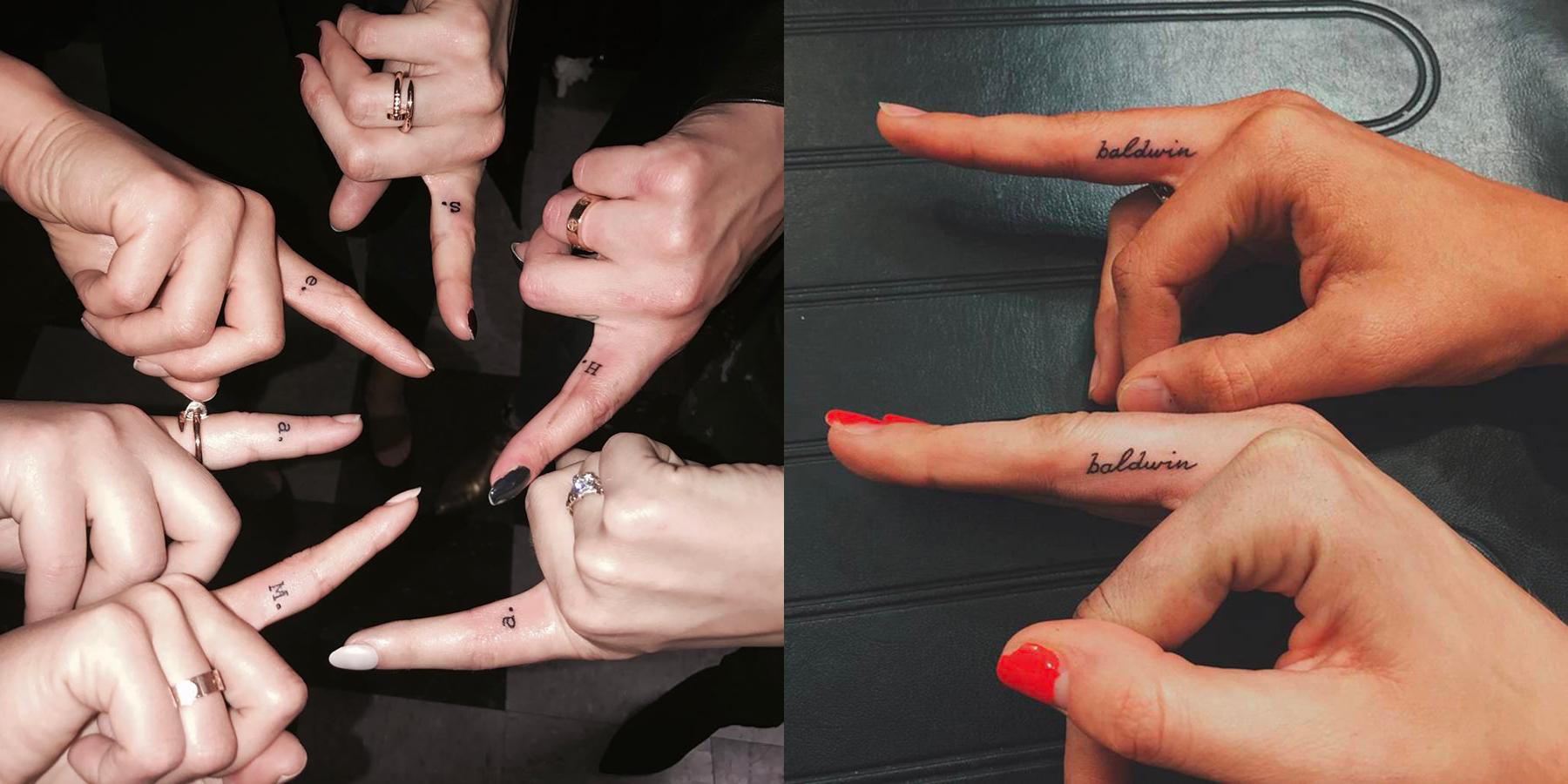 Bieber tattoo nail 1