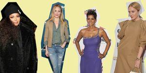 Janet Jackson, Cameron Diaz, Halle Barry en Chloe Sevigny op een rode loper