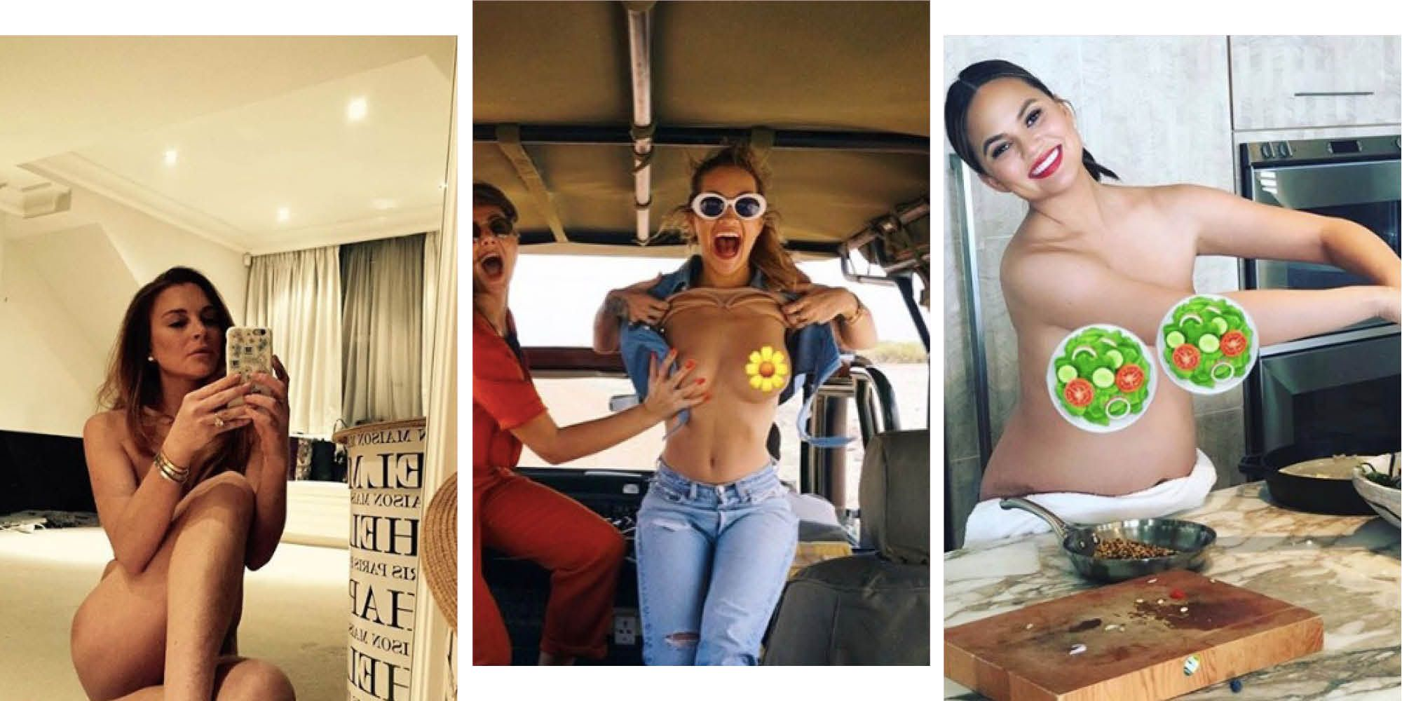 The most naked celebrity Instagram photos of all time