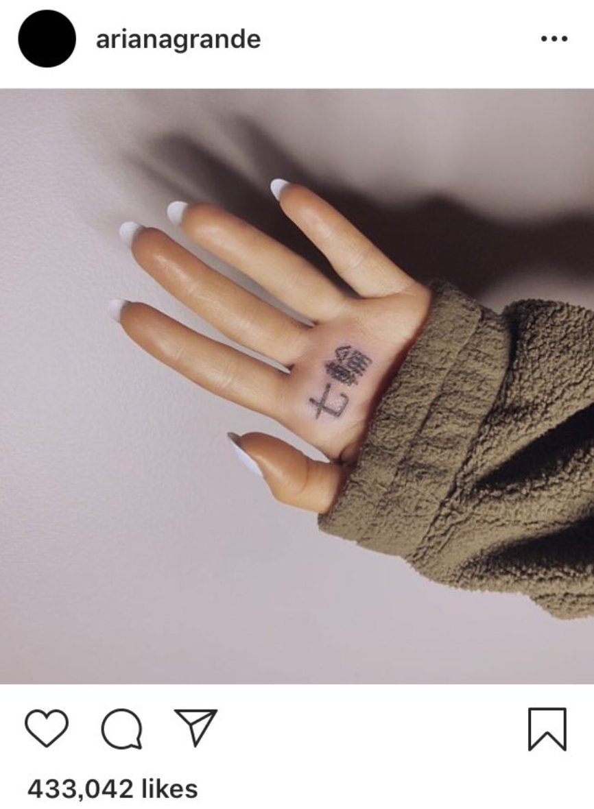 Worst Celebrity Tattoos Ariana Grande