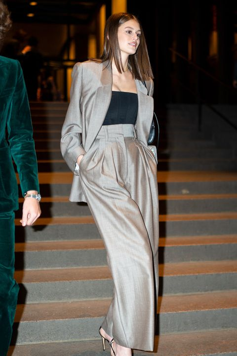 new york, new york   april 06 kaia gerber attends marc jacobs and char defrancescos wedding reception at the grill in midtown on april 06, 2019 in new york city photo by gothamgc images