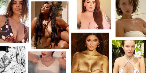 times celebs showed their boobs on instagram