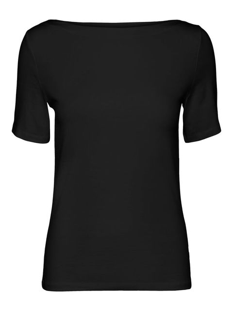 T-shirt, Clothing, Black, Sleeve, Neck, Top, Active shirt, Shoulder, Jersey, Blouse,