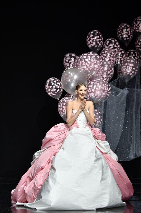A model walks the Celia Kritharioti haute couture runway