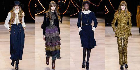 Fashion model, Fashion, Fashion show, Runway, Clothing, Haute couture, Fashion design, Event, Outerwear, Dress,