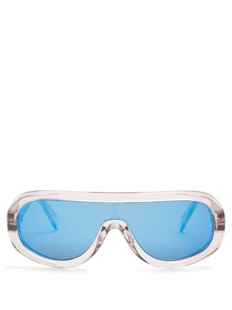 Eyewear, Sunglasses, Glasses, Aqua, Goggles, Personal protective equipment, Blue, Turquoise, Azure, Transparent material,