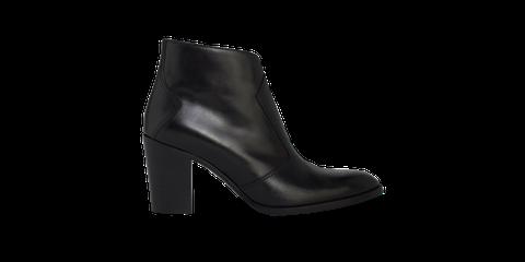 Footwear, High heels, Black, Shoe, Boot, Leather, Leg, Basic pump,