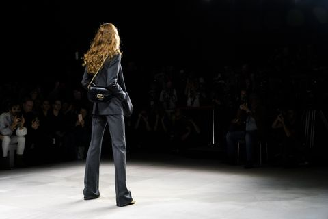 Runway, Fashion, Fashion show, Fashion model, Fashion design, Public event, Event, Human, Model, Denim,