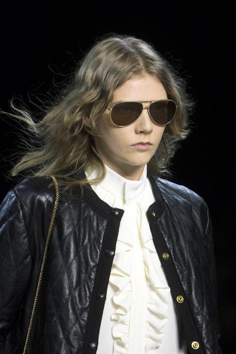 Clothing, Eyewear, Vision care, Jacket, Collar, Sunglasses, Textile, Outerwear, Coat, Style,