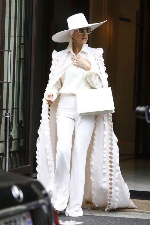 Celine Dion leaves her hotel in Paris