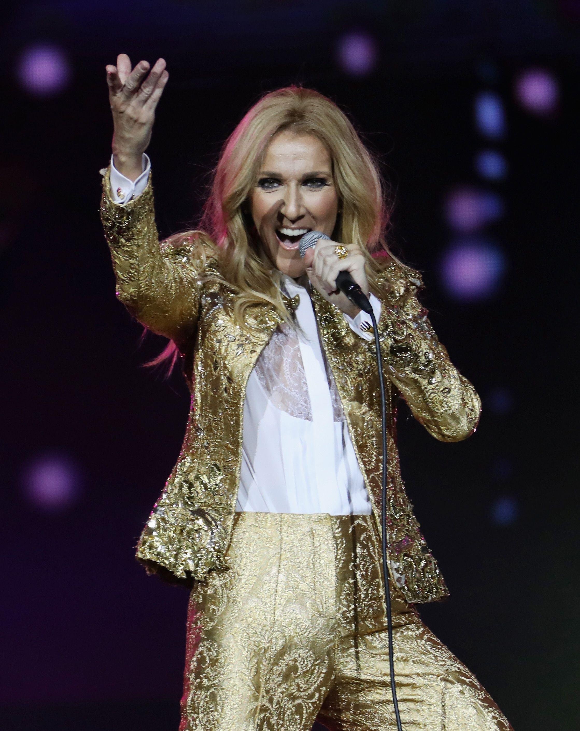 Celine Dion Performs In Sydney