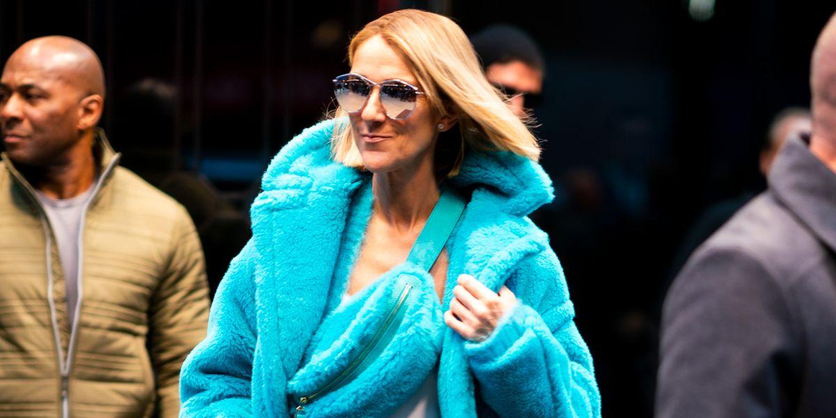 Céline Dion verschijnt van top tot teen in opvallende turquoise Max Mara-look - VOGUE Nederland