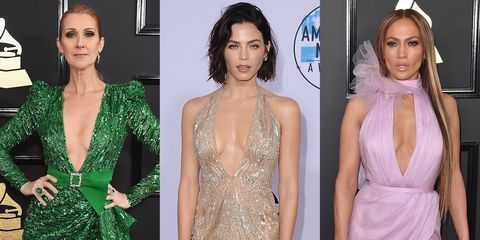 e6def3c4bc 30 of the Best Plunging Necklines Worn by Celebrities on the 2017 Red  Carpets