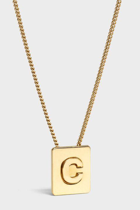 Celine necklace, initial jewellery