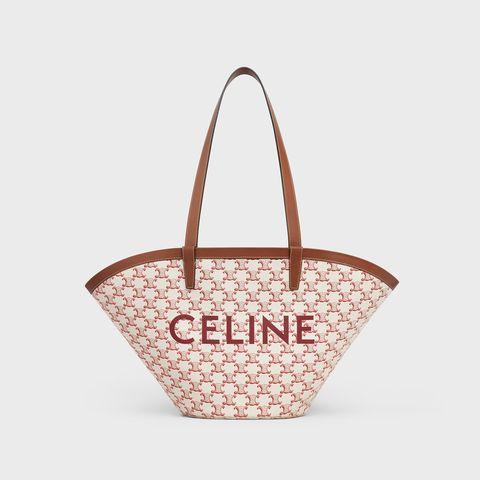 celine粉色凱旋門logo中型肩背包
