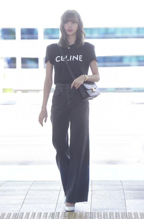 韓星Lisa 配戴Celine 包現身機場