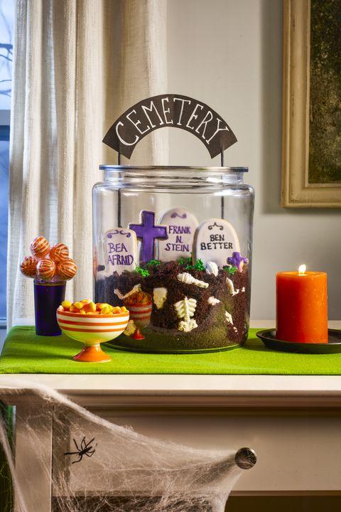 cemetery cookie jar halloween dessert