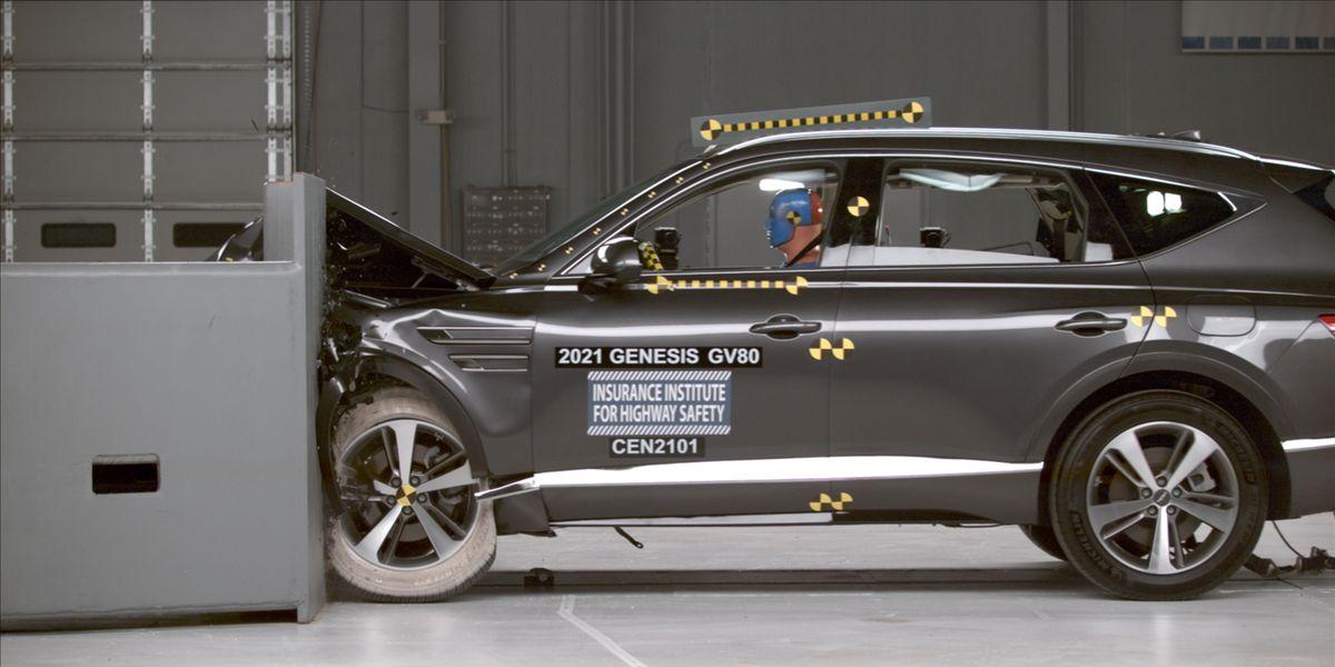 2021 Genesis GV80 Earns IIHS Top Safety Pick Plus