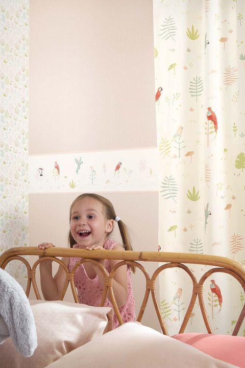 Dormitorio infantil con cenefa