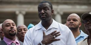 The Central Park Five: Antron McCray, Kevin Richardson, Yusef Salaam, Raymond Santana en Korey Wise.