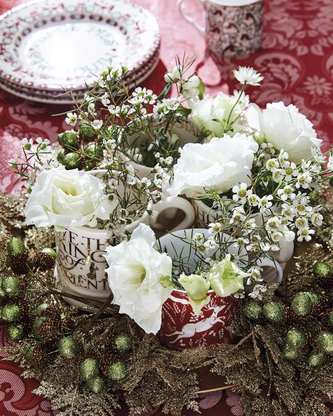 centro de mesa de flores para navidad