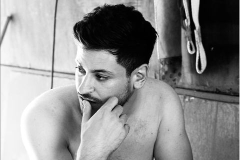 Hair, Photograph, Barechested, Black, Black-and-white, Arm, Muscle, Shoulder, Monochrome photography, Photography,