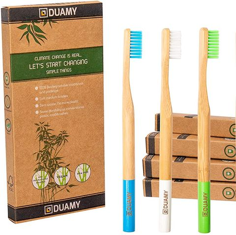 Cepillos de dientes de madera de bambú ecológicos