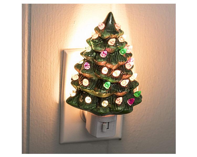 Ceramic Christmas Tree Painting Ideas.Ceramic Christmas Tree Night Lights On Amazon And Etsy