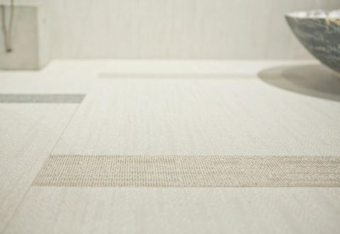 Floor, Flooring, Grey, Beige, Composite material, Rectangle, Serveware, Tile flooring, Ceramic, Building material,