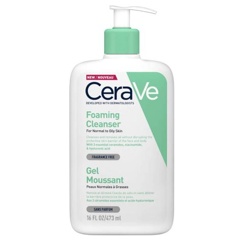cerave foaming facial cleanser niacinamide