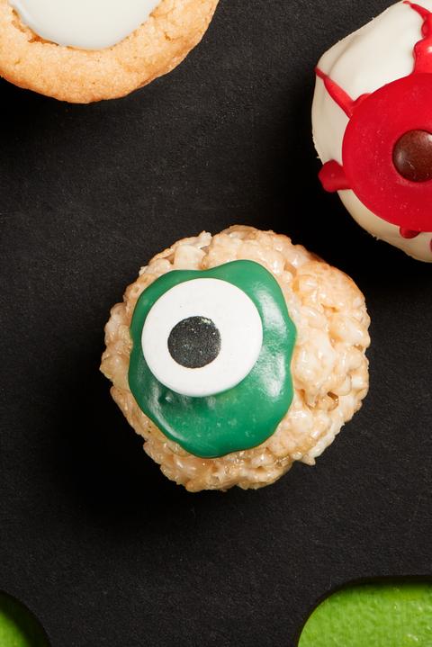 cereal treat eyeballs recipe