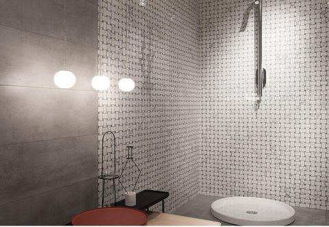 Room, Wall, Plumbing fixture, Floor, Interior design, Tile, Dishware, Shower head, Flooring, Fixture,
