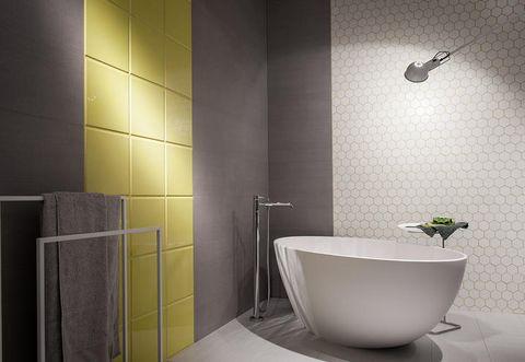 Room, Plumbing fixture, Property, Interior design, Floor, Wall, Tile, Flooring, Ceramic, Purple,