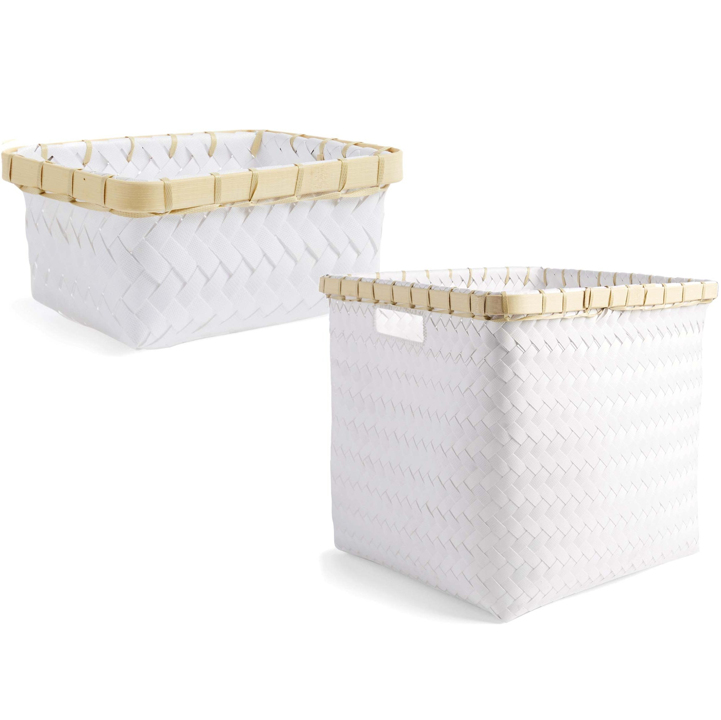 Cestos cuadrados blancos: Almacenaje